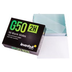 Vetrini vuoti Levenhuk G50 2H a cavità doppia, 50 pz.